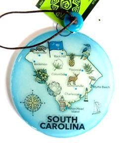 South Carolina Map Ornament