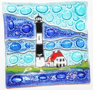 Light House Fire Island, NY  Medium Plate