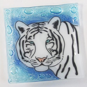 White Tiger  Medium Plate