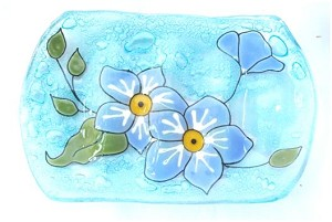Forget Me Not Soap Dish