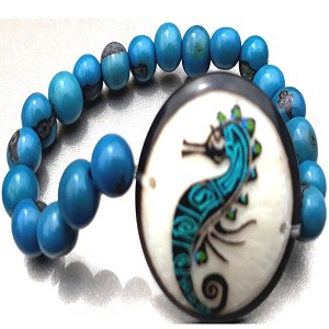 Sea Horse Bracelate  Made with Tagua