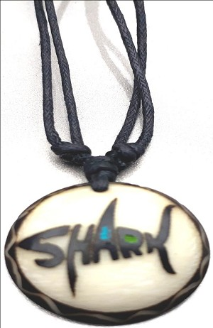 Shark Necklace Made with Tagua