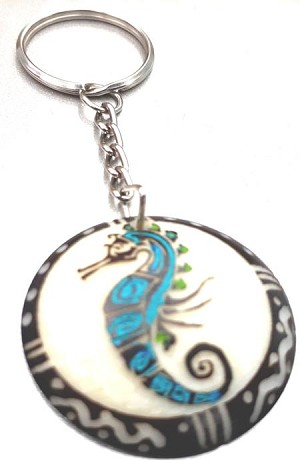 Sea Horse Tribal Tagua Key Chain