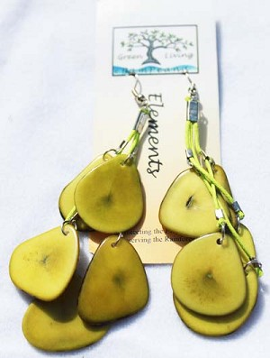 Slice Earring Lime Green