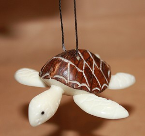 Sea Turtle Tagua Ornament