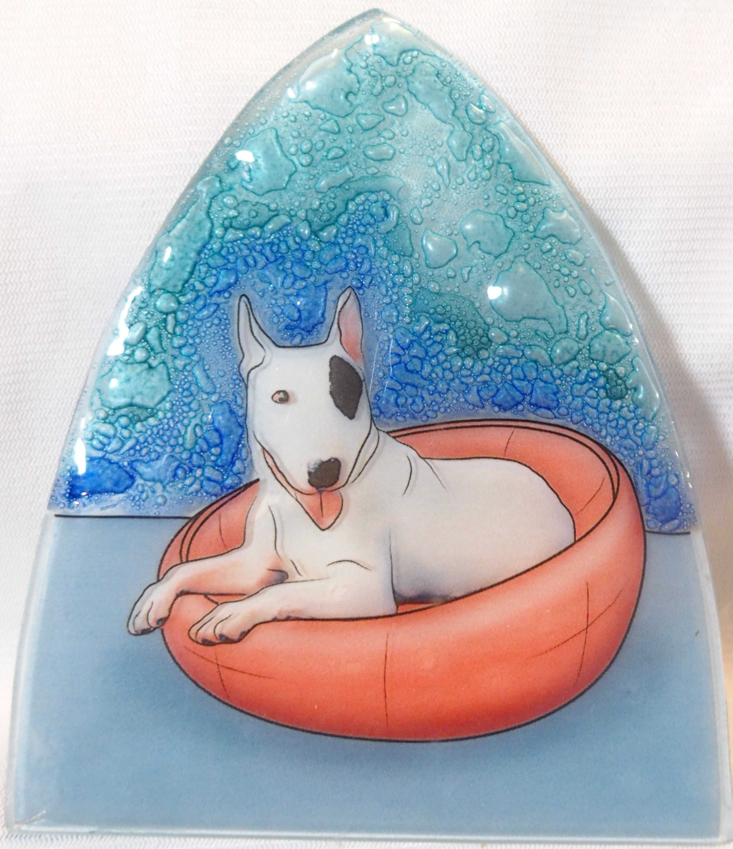 Bull Terrier Dog Glass Nightlight