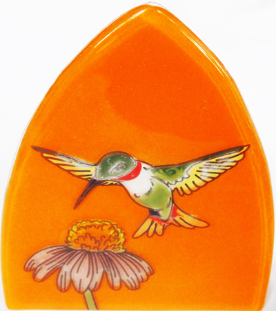 Hummingbird Glass Nightlight