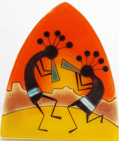 Kokopeli Glass Nightlight