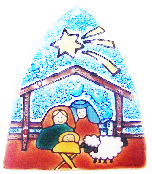 Nativity Scene Glass Nightlight