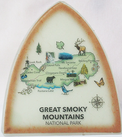 Smoky Mountain Map Nightlight