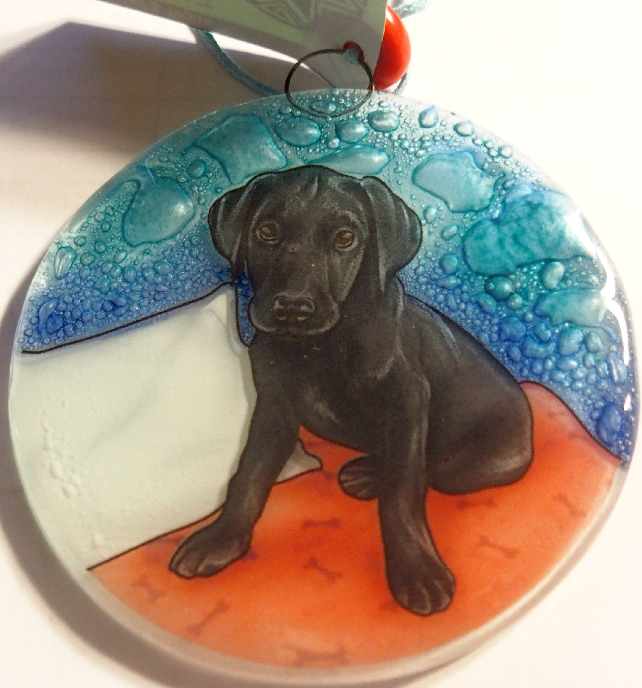 Black Lab Dog Ornament