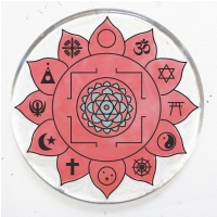 Yantra in Pink  Ornament