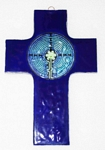 Extra Large Fused Glass Cross