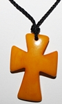 Tagua Cross Necklace Yellow