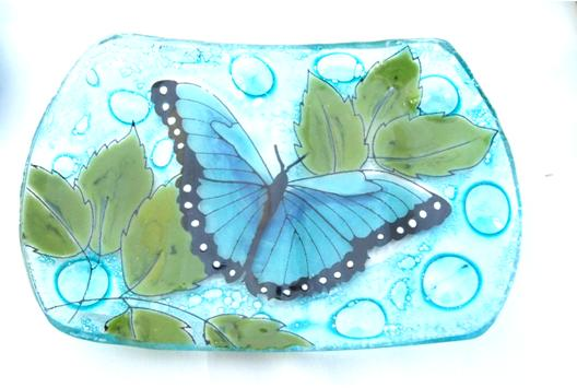 Blue Butterfly Soap Dish