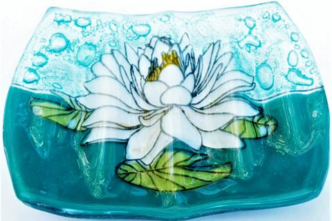 White Lotus Soap Dish