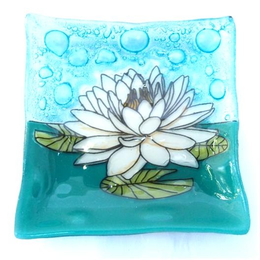 White Lotus Flower Dish