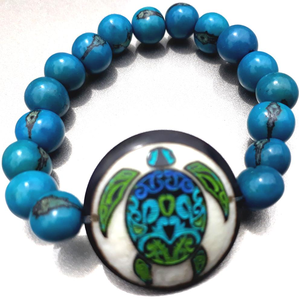 Sea Turtle Bracelate  Made with Tagua