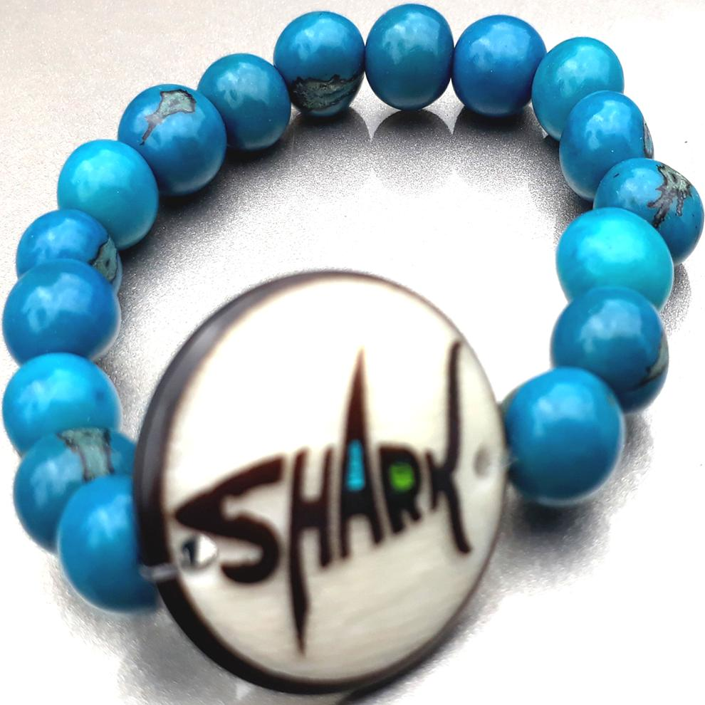 Shark Bracelate  Made with Tagua