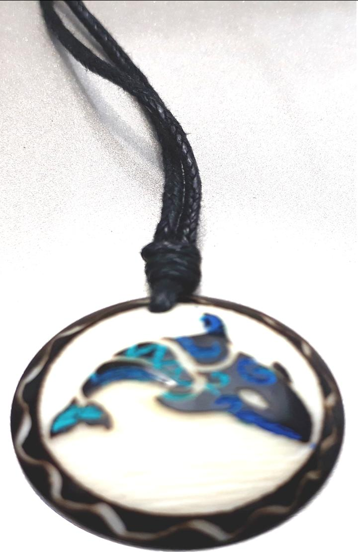Orca Necklace  Made with Tagua