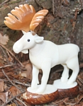 Large Moose Tagua Carving