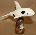 Large orca Whale Tagua Carving