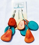 Slice Earring Orange and Aqua
