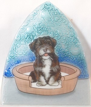 Havenese Dog Glass Nightlight