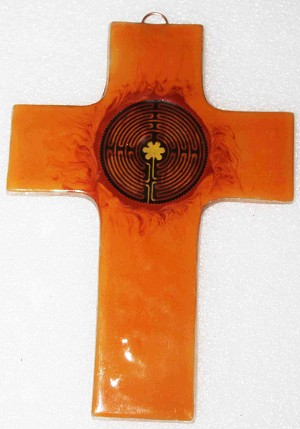 Large Fused Glass Cross