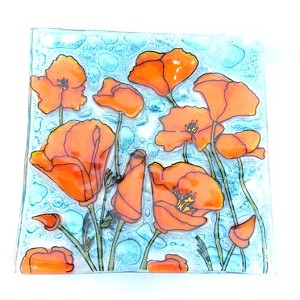 Poppy Flowers Dish