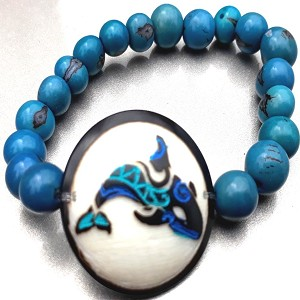 Orca Whale Bracelate  Made with Tagua