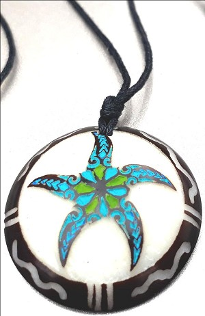 Star Fish Necklce Made with Tagua