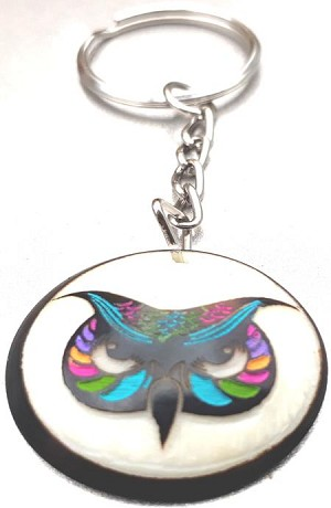 Owl Tribal Tagua Key Chain
